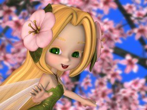 Fairy in the Cherry Blossoms