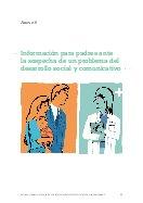 Información para padres ante la sospecha de un problema del desarrollo social y comunicativo