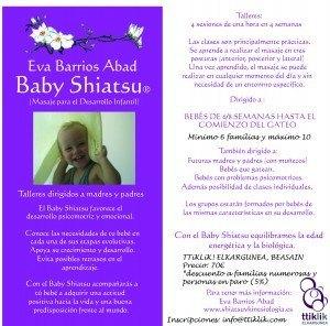 Flyer Baby Shiatsu Beasain