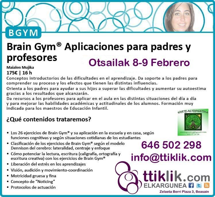 Photo of BRAIN GYM® (Garunaren gimnasia) ikastaroa, guraso eta hezitzaileentzako: plazak betetzen!