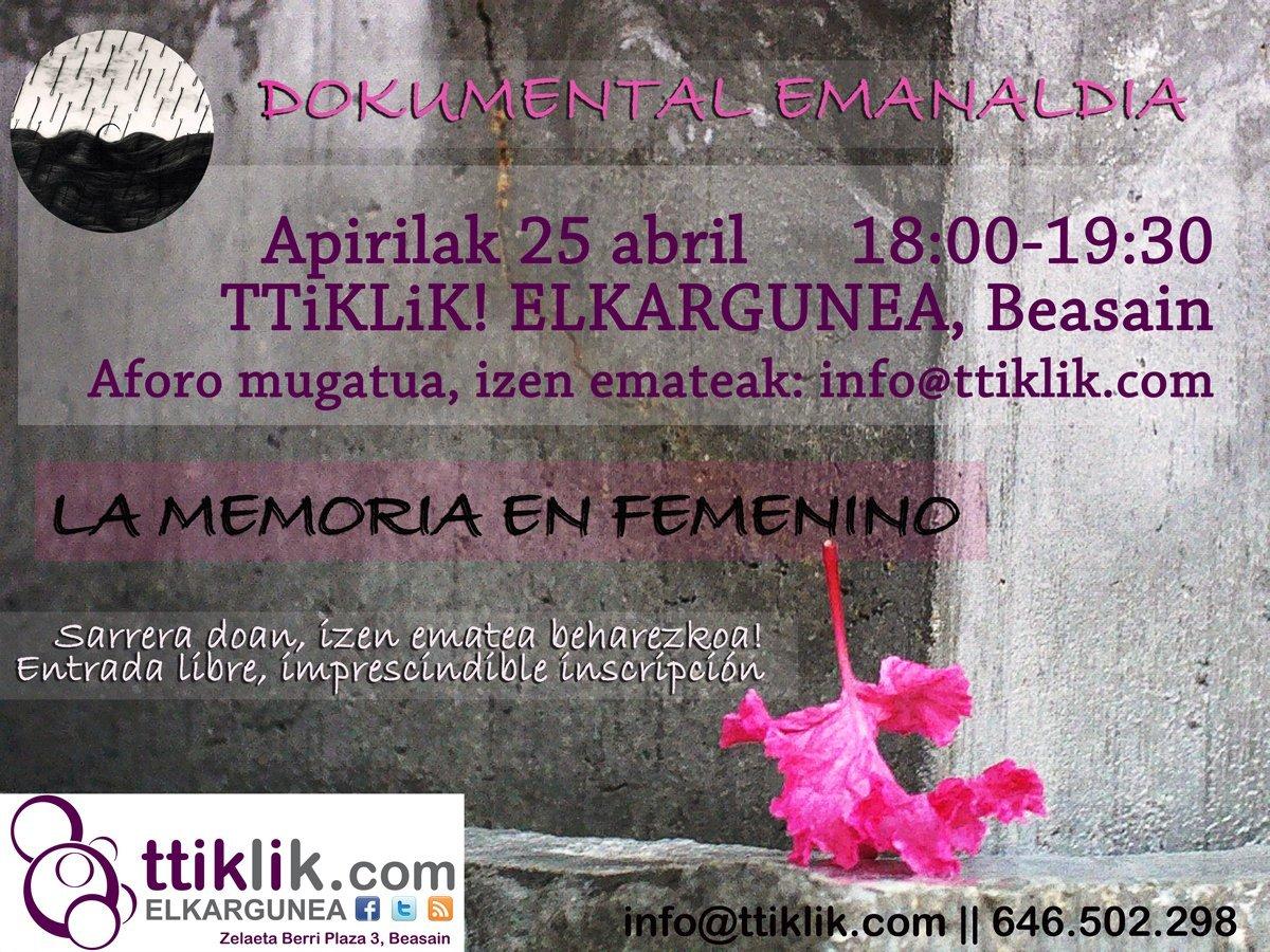 """Photo of Proyección documental: """"La memoria en femenino"""" la historia de las Encartaciones"""