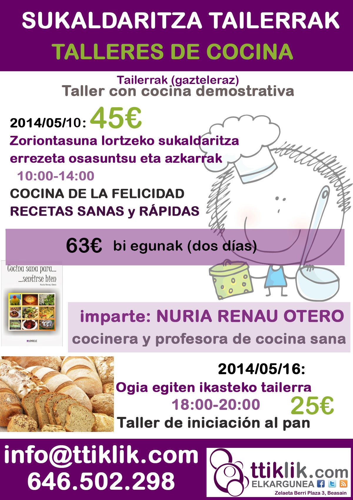 Photo of Recetas rápidas y taller del pan