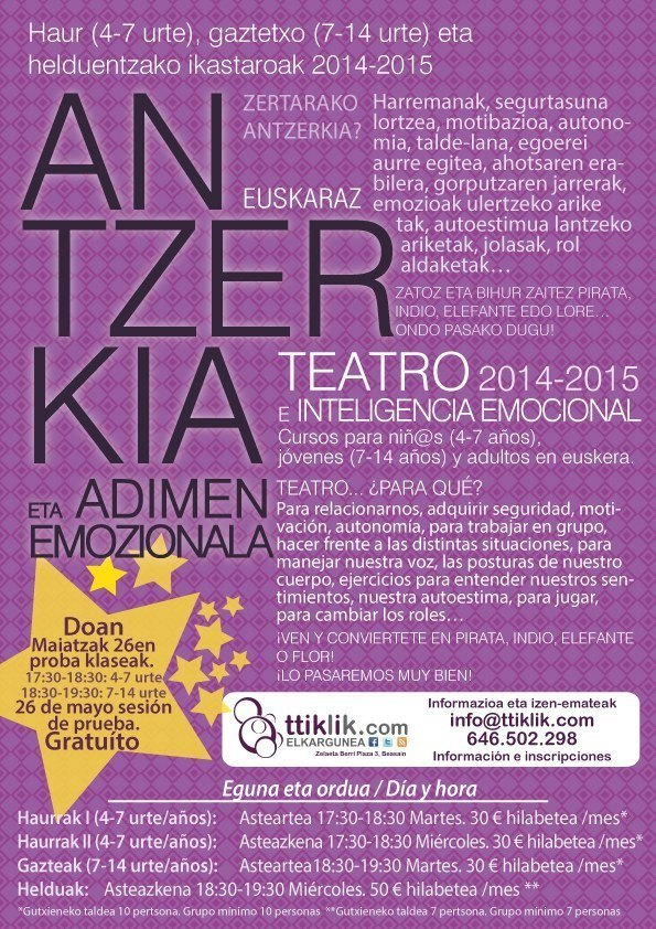 Photo of TEATRO E INTELIGENCIA EMOCIONAL EN TTiKLiK!