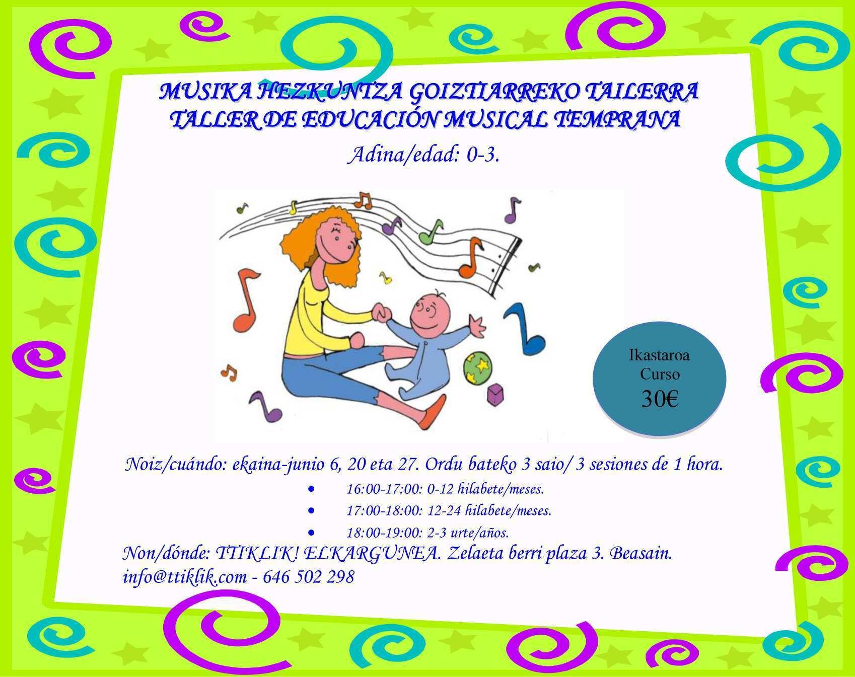 Photo of TALLER DE EDUCACIÓN MUSICAL TEMPRANA