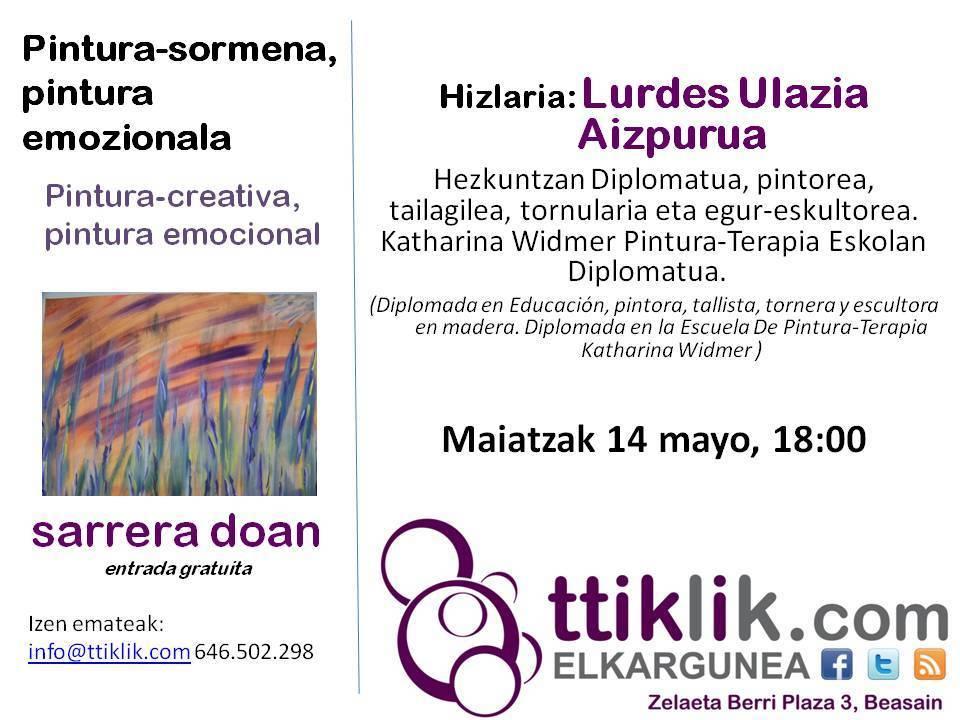 Photo of Hitzaldia DOAN: Pintura-sormena, pintura emozionala
