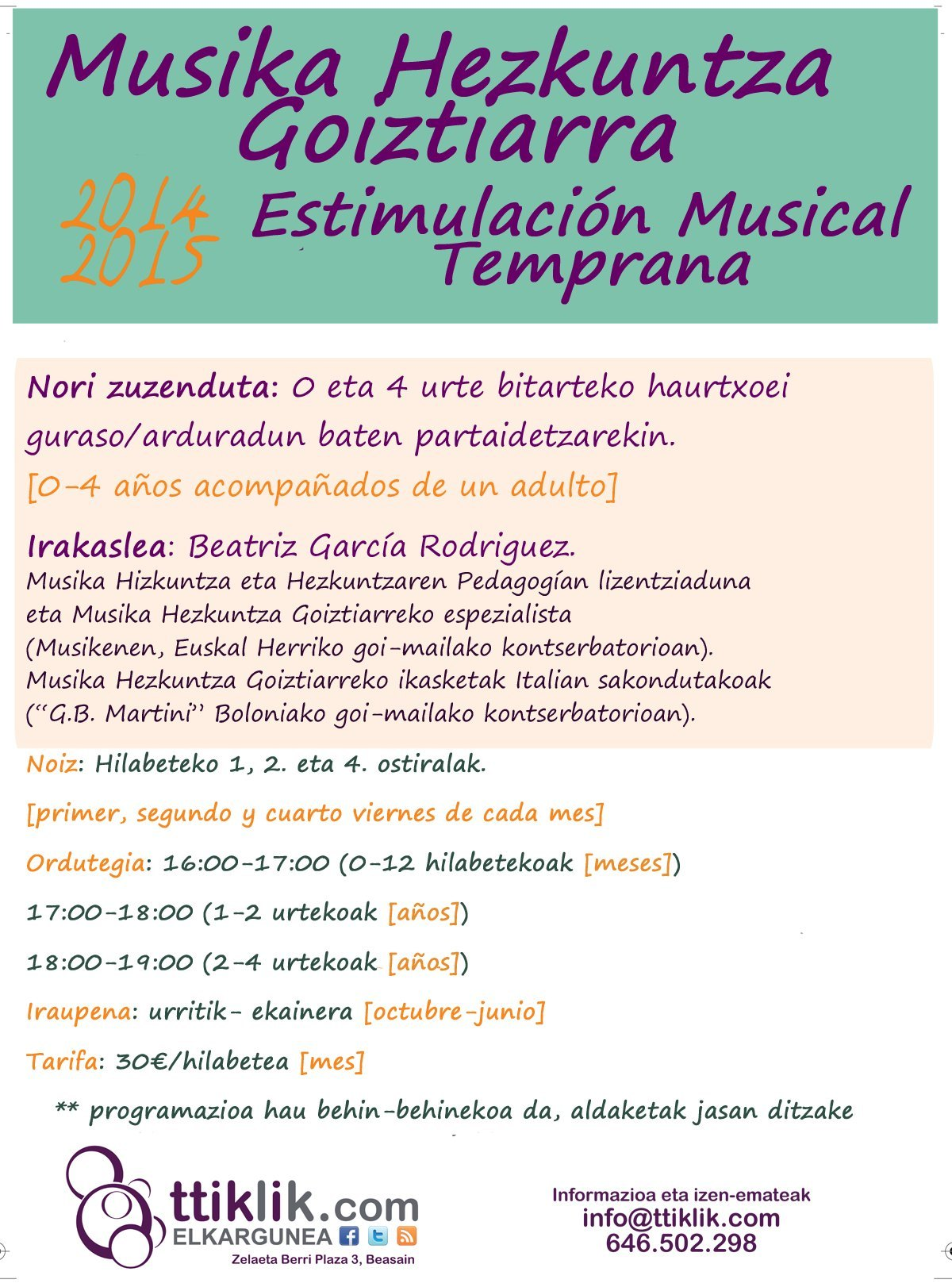 Photo of 2014-2015::TALLER DE EDUCACIÓN MUSICAL TEMPRANA