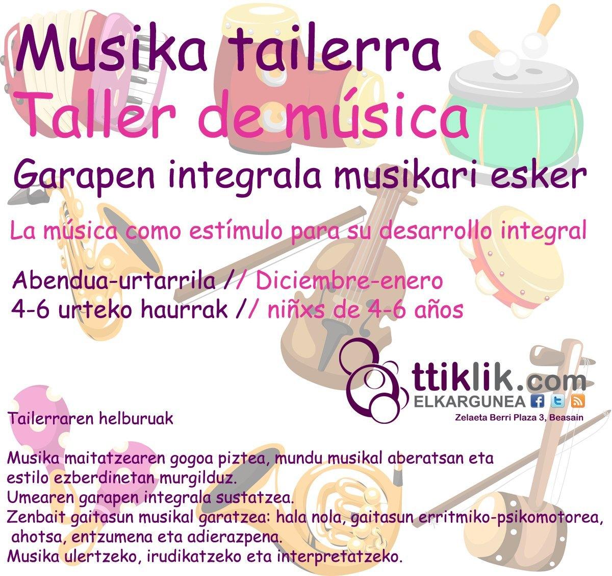 Photo of 4-6 urte: Garapen integrala musikari esker