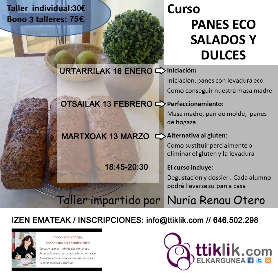 Photo of CURSO DE PANES ECO: SALADOS Y DULCES