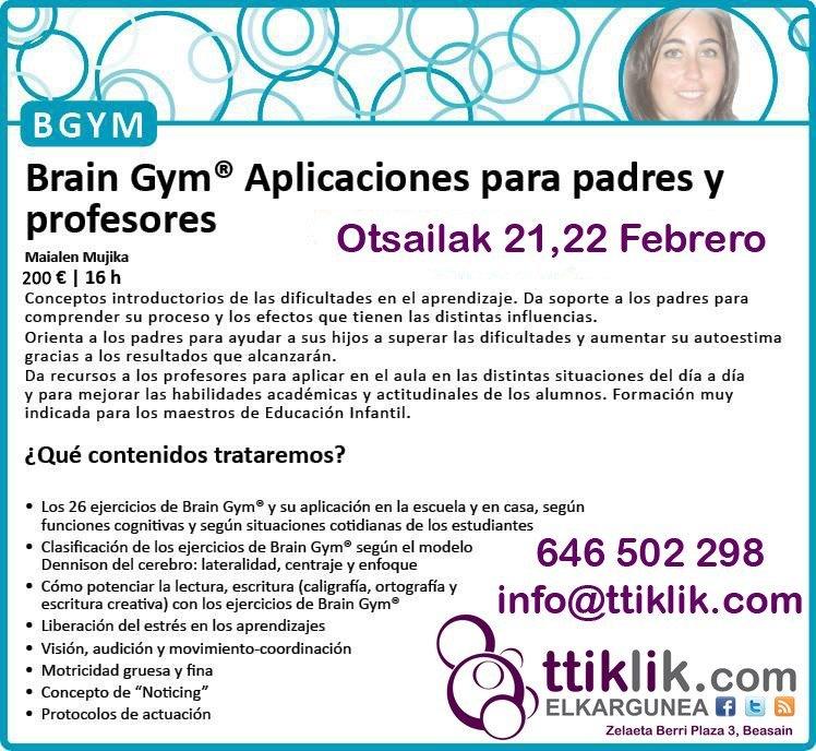 Photo of FEBRERO 2015: CURSO PARA PADRES/MADRES Y PROFESORxS DE BRAIN GYM® (Gimnasia cerebral): inscripciones abiertas