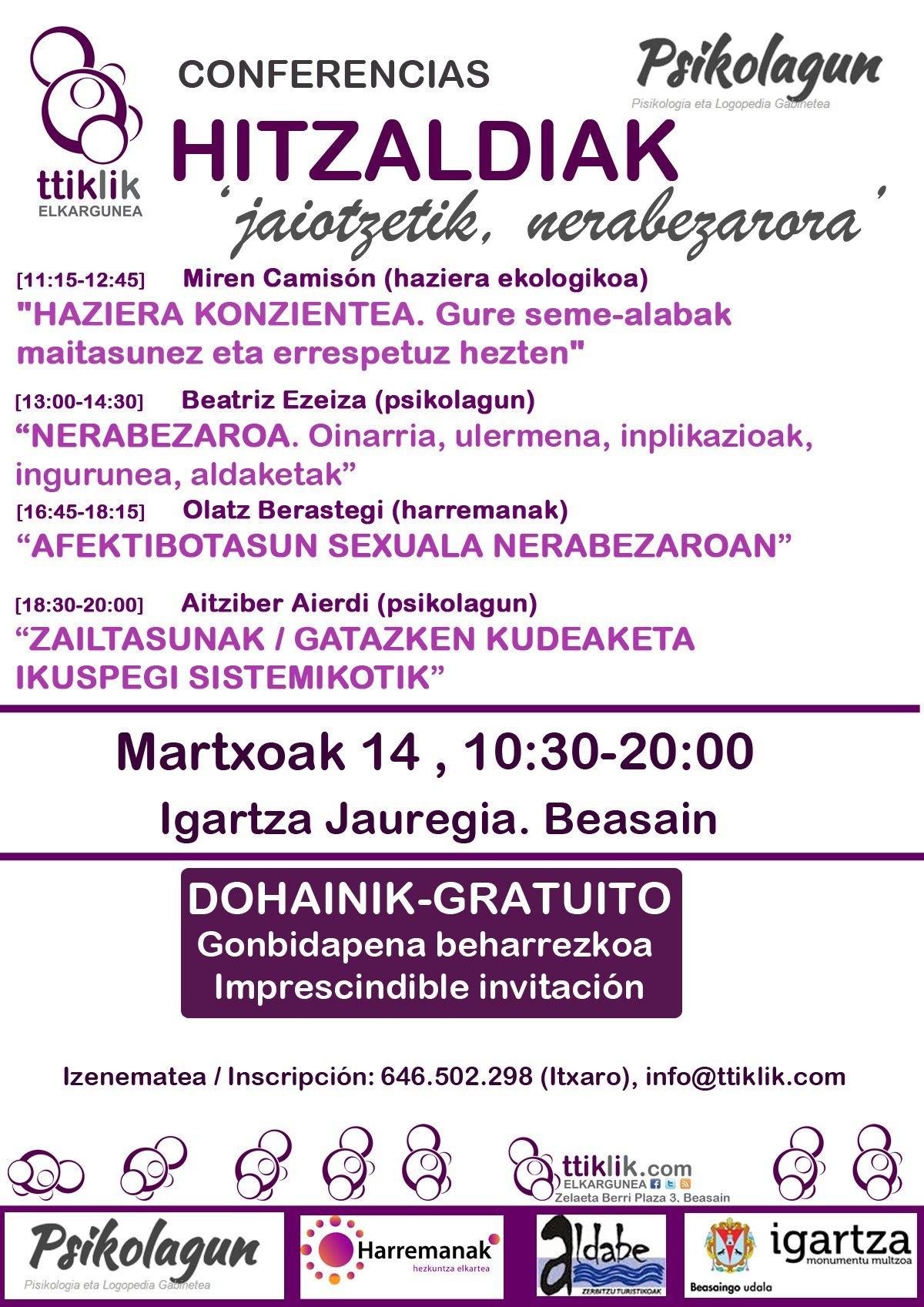 """Photo of PSIKOLAGUN eta TTiKLiK! ELKARGUNEAren II. HITZALDI SORTA """"jaiotzetik, nerabezarora"""""""