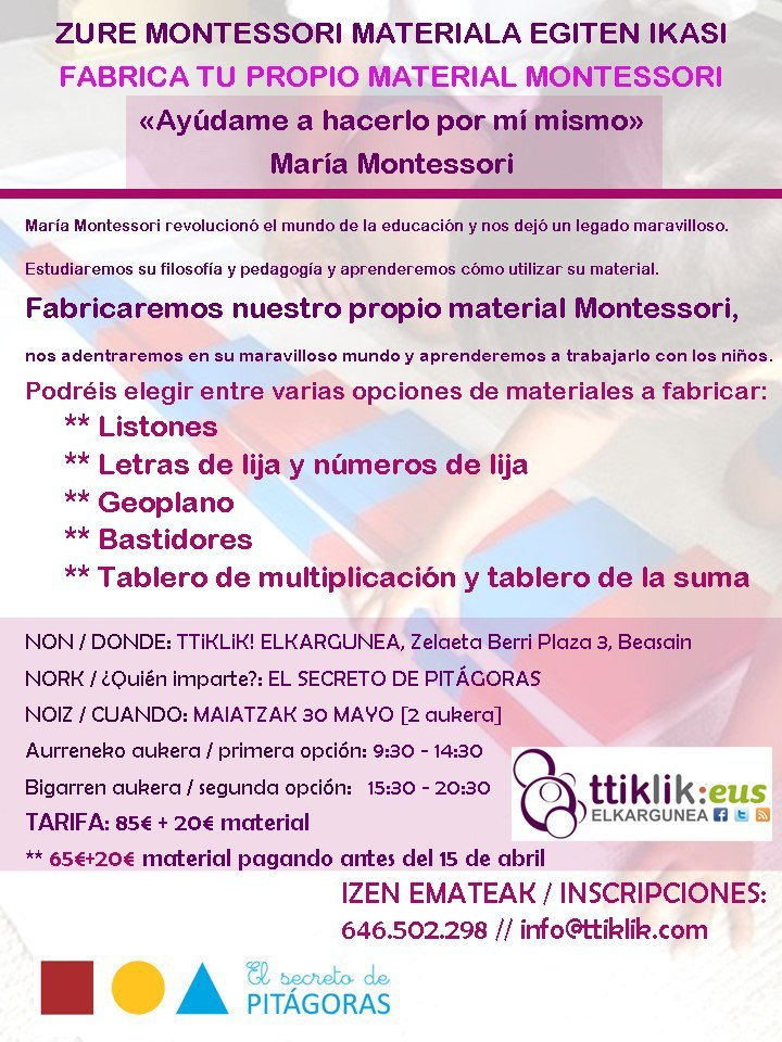 Photo of OFERTA HASTA MAÑANA: FABRICA TU PROPIO MATERIAL MONTESSORI