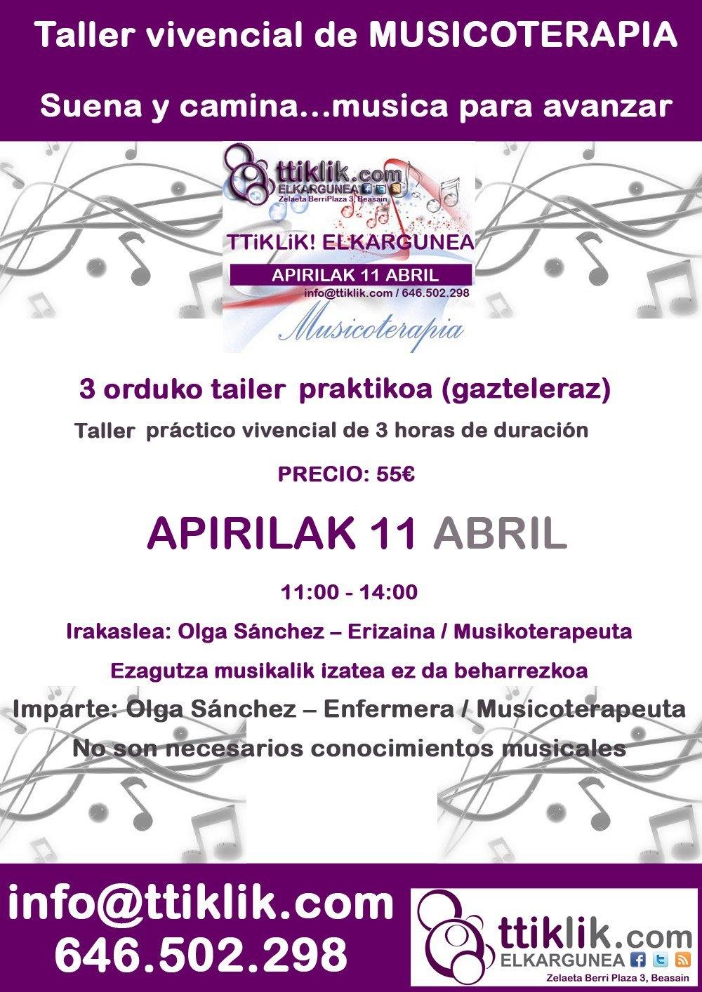 Photo of Taller de Musicoterapia: 11 de abril