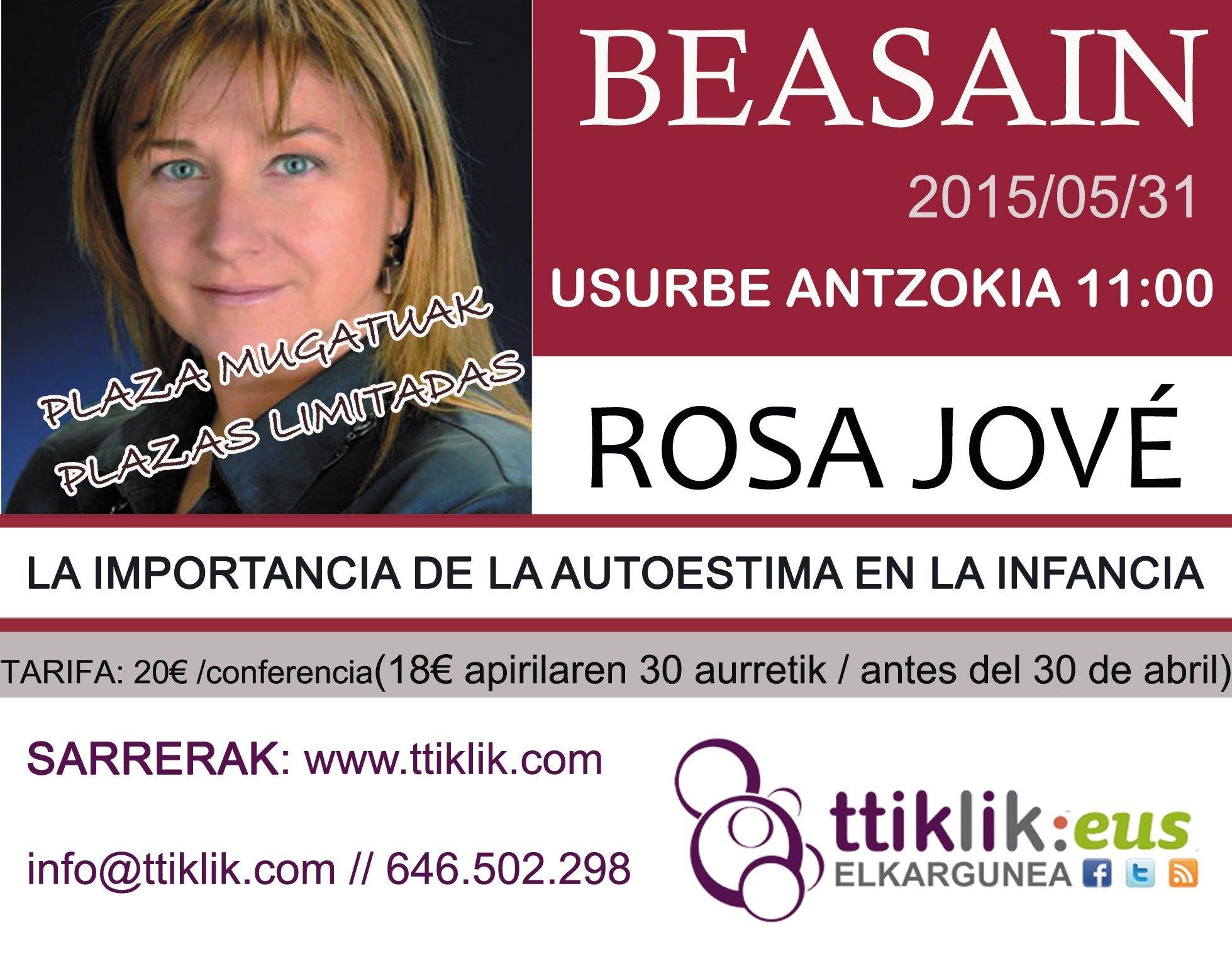 Photo of Rosa Jové 20 sarreren zozketa