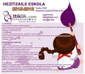 HEZITZAILE-ESKOLA kartela