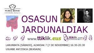 Photo of TTIKLIK – OSASUN JARDUNALDIAK – TXOSTENA