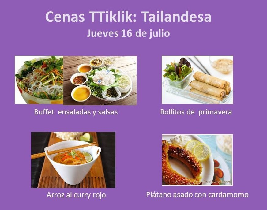 Photo of CENAS TTiKLiK!: 16 de julio, cocina tailandesa. MENU