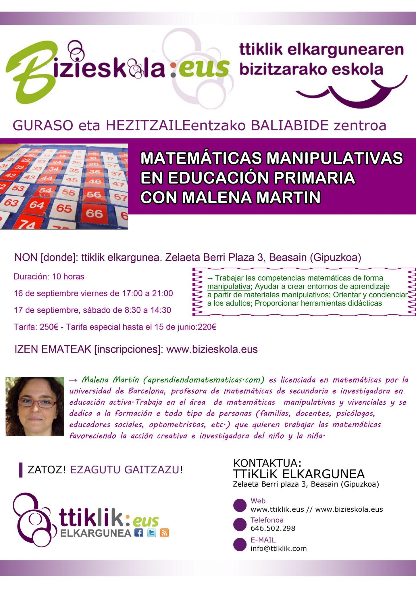 Photo of MATEMÁTICAS MANIPULATIVAS EN EDUCACIÓN PRIMARIA CON MALENA MARTIN