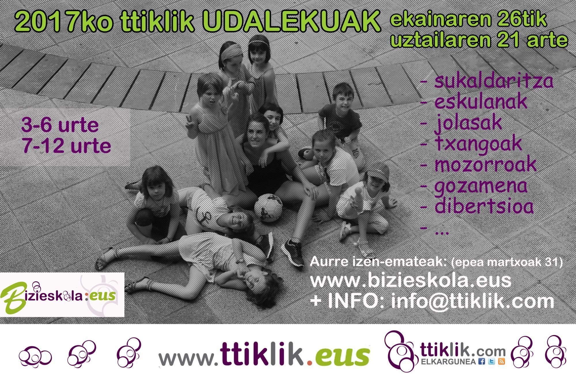 Photo of TTIKLIK UDALEKUAK PRE-INSCRIPCIONES